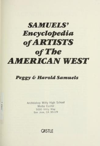 Cover of: Samuels' encyclopedia of artists of the American West | Peggy Samuels